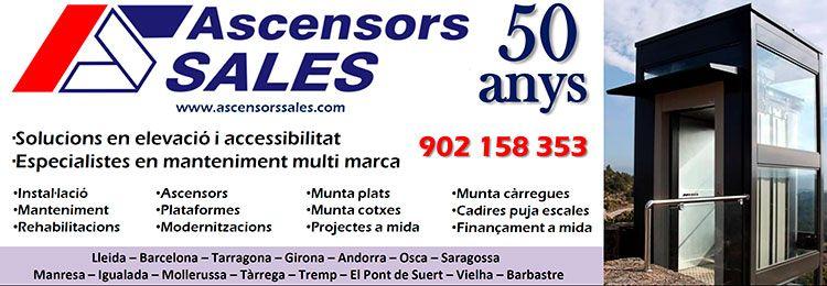 Ascensors Sales. 750x260px