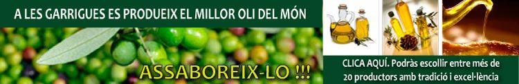 A les Garrigues es produeix el millor oli del món. 750x122px