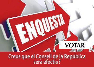 Enquesta-Creus que el Consell de la República serà efectiu?