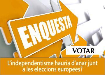 Enquesta – L'independentisme hauria d'anar junt a les eleccions europees?