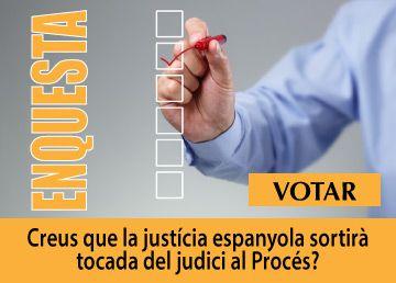 Enquesta-Creus que la justícia espanyola sortirà tocada del judici al Procés?