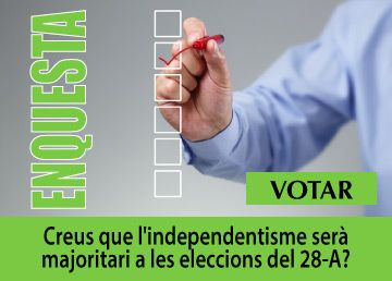 Creus que l'independentisme serà majoritari a les eleccions del 28-A?